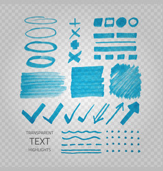 transparent highligter spots vector image