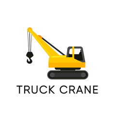 truck crane icon isolated on white vector image