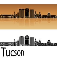 Tucson v2 skyline in orange vector