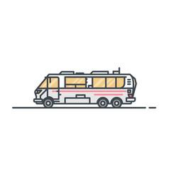 camper caravan vector image vector image