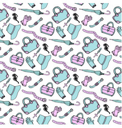 doodle hand drawn fashion accessories and vector image