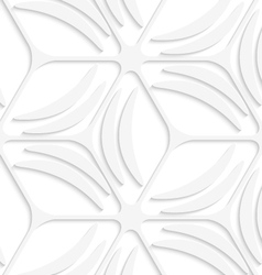White net and banana shapes seamless pattern vector image vector image