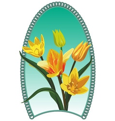 Yellow tulip vector image vector image