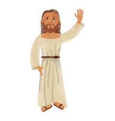 drawing jesus christ christianity design vector image
