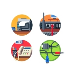 Office equipment set vector image vector image