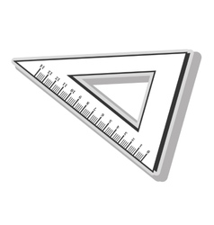 Ruler measurement tool vector image