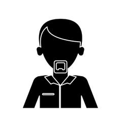 Silhouette man adult leadership office work vector