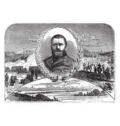ulysses s grant vintage vector image vector image