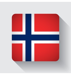 Web button with flag of Norway vector image vector image