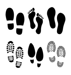 Footprints shoes vector