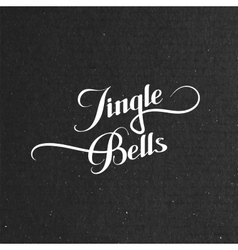 Jingle bells merry christmas vector