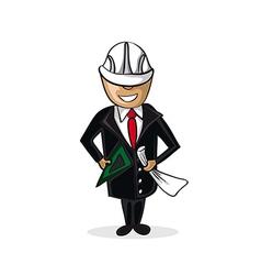 Professional architect man cartoon figure vector image vector image