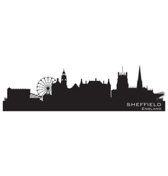 Sheffield England skyline Detailed silhouette vector image