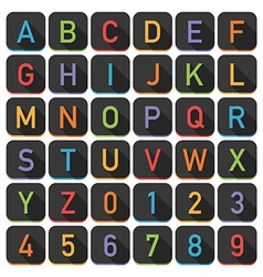 alphabet tile set vector image vector image