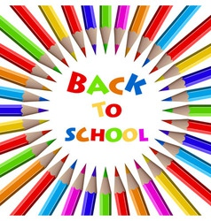 Colorful pencils background Back to School vector image vector image