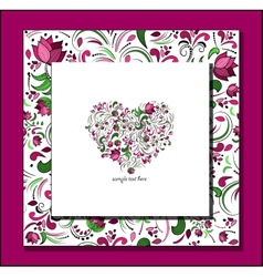 heart of roses vector image