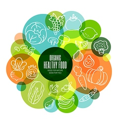 Organic healthy fruits and vegetables vector