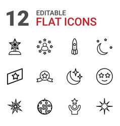 12 star icons vector