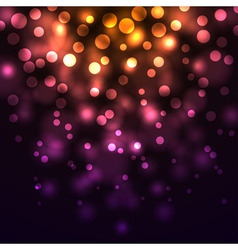 Abstract falling lights dark background vector