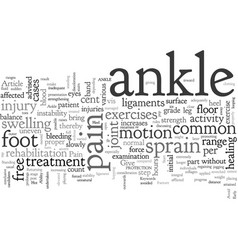 Ankle sprain and pain vector