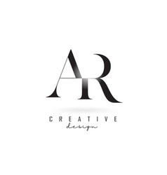 Ar a r letter design logo logotype concept vector