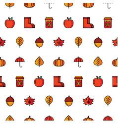 autumn icon seamless pattern vector image