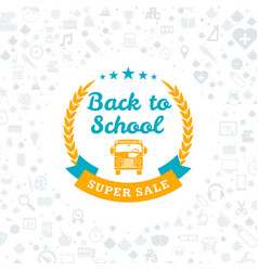 back to school typographic badge design vector image