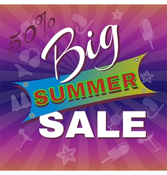 Big Summer Sale Promotion Flyer vector image