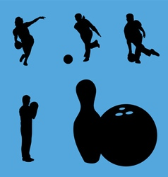 Bowling collection vector