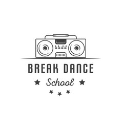 break dance school logotype vector image