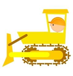 Bulldozer driver vector