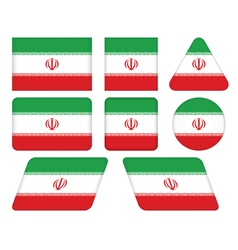 buttons with flag of Iran vector image