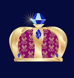 Carnival Mardi Gras crown vector