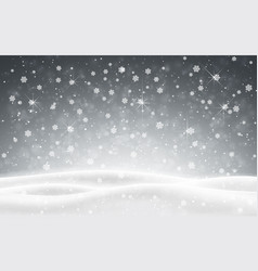 christmas background falling snow winter night vector image
