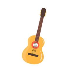 Classic cuban guitar flat vector