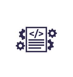 Code optimization icon on white vector