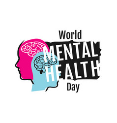 colorful design world mental health day banner vector image