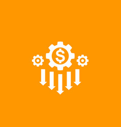 Cost reduction strategy icon vector