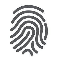 cryptographic signature glyph icon security vector image