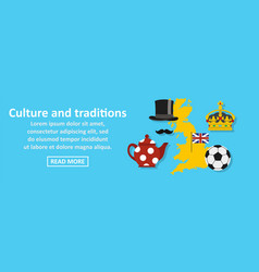 culture and traditions banner horizontal concept vector image vector image