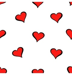 Cute valentine s seamless pattern with hearts vector image