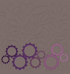 Different sizes of color cog wheel gear engaging vector