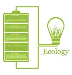 Ecologic modern infographic Design elements vector image