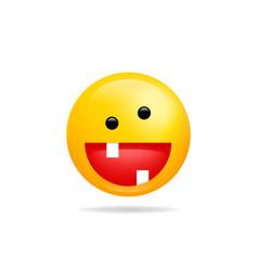 Emoji smile icon symbol crazy smiley face yellow vector