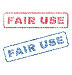 Fair use textile stamps vector