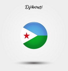 flag djibouti icon vector image