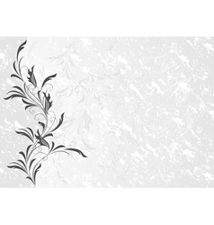 Floral ornament with grunge background vector image