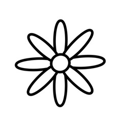 Flower decoration nature icon outline vector