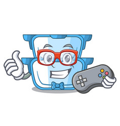 Gamer cartoon double boiler for the cooking vector