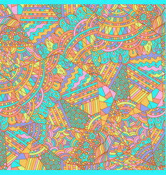 geometric pattern with pastel colors ethnic vector image